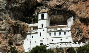 Ostrog Monastery in the rocks, Montenegro              Source: flu4022 / Adobe Stock