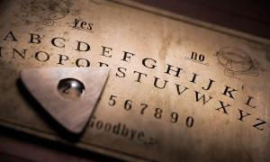 An antique Ouija board