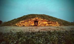 Modern Pagan Long Barrow at All Cannings, UK