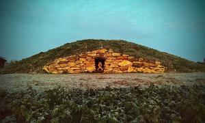 Modern Pagan Long Barrow at All Cannings, UK