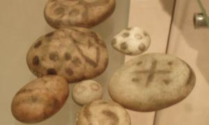 Painted Pictish Pebbles