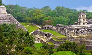 The Maya site of Palenque, Mexico