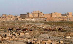 View of Palmyra in 2010 showing the Temple of Bel.