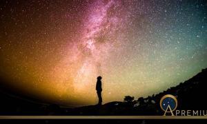 Universe Milky Way Stars Sky Person Looking Night