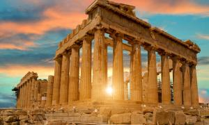 The majestic and mysterious Parthenon in Athens, Greece.