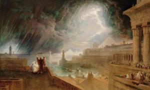 """John Martin's """"Seventh Plague of Egypt"""" (1823), in the Museum of Fine Arts, Boston, Ascension Number 60.1157. Source: Public Domain"""