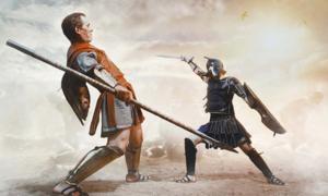 Ancient Greek warrior fighting in the combat. Credit: Fotokvadrat / Adobe Stock