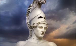 Statue of ancient Athens statesman Pericles