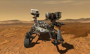 This illustration depicts NASA's Perseverance rover operating on the surface of Mars. Source: NASA / JPL-Caltech