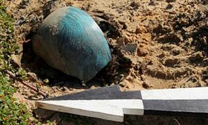 'The cultural layer was eroded by wind and we found the fragment of the cup.