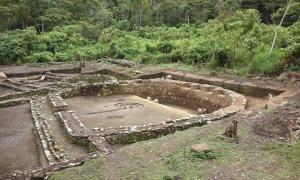 A D-shaped structure built by the Wari culture, found near Cusco in Peru.
