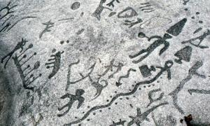 Peterborough Stone petroglyphs - Canada