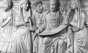Philosopher Plotinus with his disciple