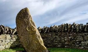 Pictish symbols carved on a standing stone, Aberlemno, Scotland. Source: Stuart /Adobe Stock
