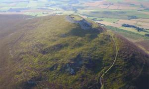 Tap o' Noth hillfort in Rhynie, Aberdeenshire, Scotland is one of the country's biggest.             Source: University of Aberdeen