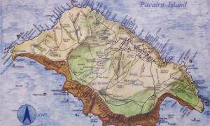 Pitcairn Island Map