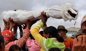 Famadihana reburial, 'turning of the bones' in Madagascar
