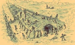 The 'Polish Pyramids' were megalithic structures that were built in ancient Poland by digging out the ground and piling large boulders on top. It is believed that their construction would have taken the work of hundreds of laborers.