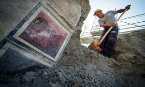 Excavations at the recently discovered 'House of Jupiter'.