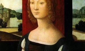 Portrait of Caterina Sforza (1483) by Lorenzo di Credi.