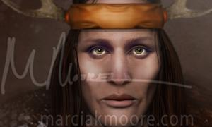 Deriv; The Adena Female. [Image copyrighted © by MARCIA K MOORE CIAMAR STUDIO. The use of which is prohibited unless prior written permission from the artist is obtained.