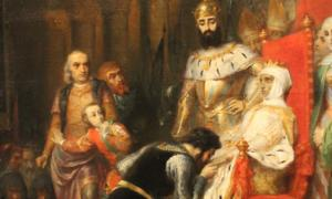 Le Couronnement d'Ines de Castro en 1361' (The Coronation of Ines de Castro in 1361) by Pierre-Charles Comte (