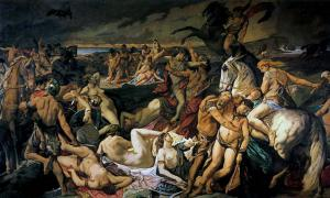 'Die Amazonenschlacht' by Anselm Feuerbach, 1873.
