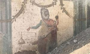Painting of Priapus found at Pompeii.