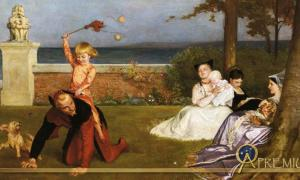 The Young Lord Hamlet by Philip Hermogenes Calderon (1868)