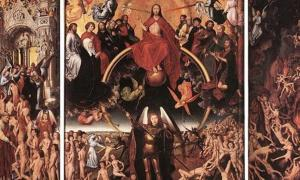 'The Last Judgment' triptych (open) (1467-1471) by Hans Memling.