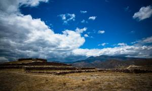 The ruins of the Pucará de Rumicucho, San Antonio de Pichincha, Ecuador
