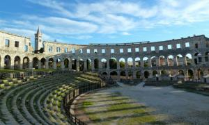 Inside view of the Pula Arena - Croatia