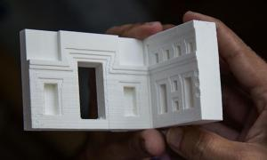 3D printed model of the ancient site of Puma Punku, Tiwanaku.