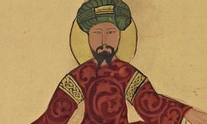A possible portrait of Saladin, found in a work by Ismail al-Jazari, circa 1185.