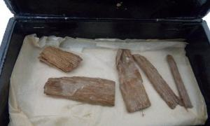 The unexpected find of the Dixon pyramid relic was discovered in Aberdeen within a cigar box. The cedarwood fragments were originally discovered in 1872 by British engineer Waynman Dixon, before being misplaced and seemingly lost to history. Source: University of Aberdeen