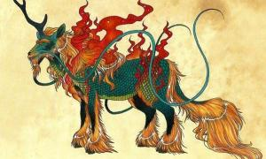 The gentle and benevolent Qilin of Chinese mythology