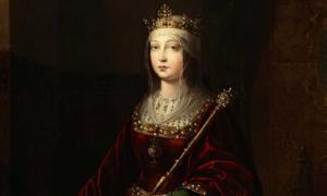 Posthumous portrait of Queen Isabella I of Castile.