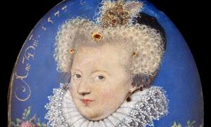 Margaret of Valois, by Nicholas Hilliard, c. 1577.