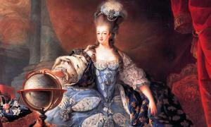 Marie Antoinette, Queen of France, en grand habit de cour, by Jean-Baptiste Gautier Dagoty, 1775.