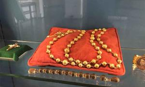 Queen Mary's rosary beads were on display at Arundel Castle until until successfully stolen recently. Source: © Arundel Castle