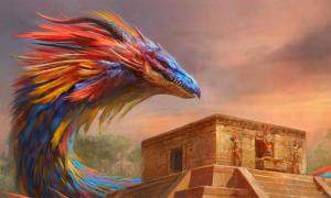 Quetzalcoatl, detail. Source: Manzanedo/Deviant Art