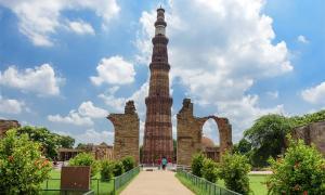 Qutub Minar, the tallest brick minaret in the world, New Delhi, India.             Source: kingslyg / Adobe Stock