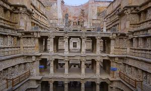 Inner view of Rani ki vav, stepwell on the banks of Saraswati River. Memorial to an 11th century AD king Bhimdev I, Patan, Gujarat, India.  Source: RealityImages / Adobe Stock