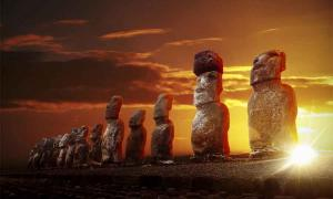 Moai on Rapa Nui, aka Easter Island. Source: thakala /Adobe Stock