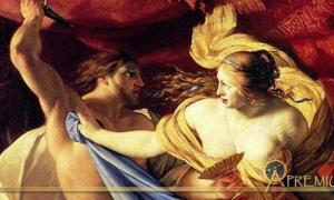 Lucretia And Tarquin, 17th century painting