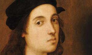 Detail of a self-portrait of Raphael, aged approximately 23.