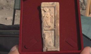 Rare Ivory icon found in Rusokastro Fortress, Burgas District, Bulgaria