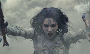 Youtube video screenshot from the new movie 'The Mummy.'