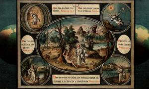 Episodes in the book of Genesis. Oil painting by a Spanish painter. Iconographic Collections.