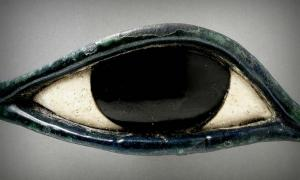 As an amulet, the popular Wedjat eye symbolized health and protection; design by Anand Balaji